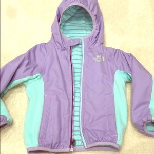 North face Reversible fleece lined jacket coat